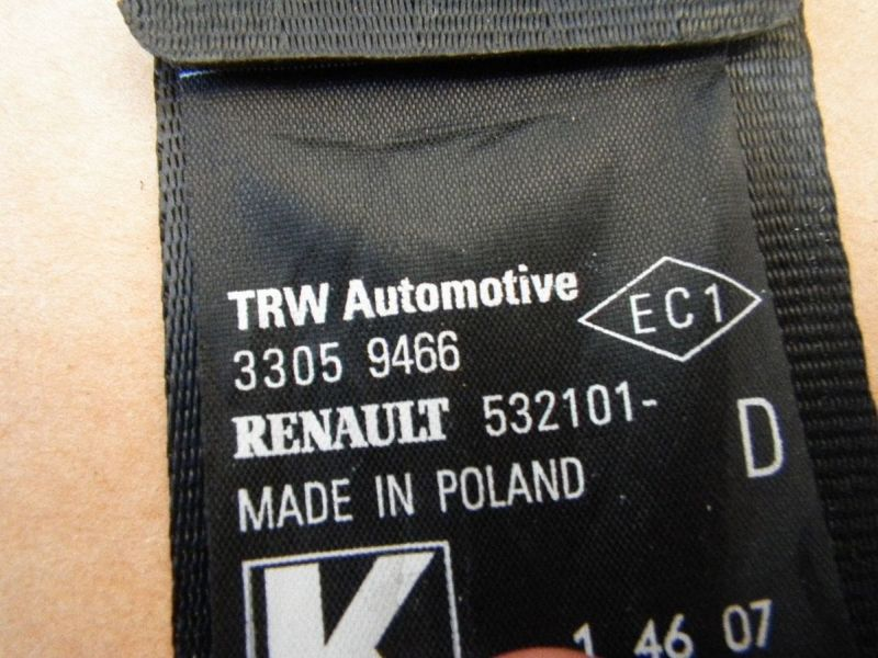 Sicherheitsgurt rechts vorne RENAULT TWINGO II (CN0)  1.2