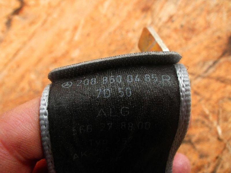 Sicherheitsgurt rechts hinten MERCEDES-BENZ CLK (C208)  CLK 430