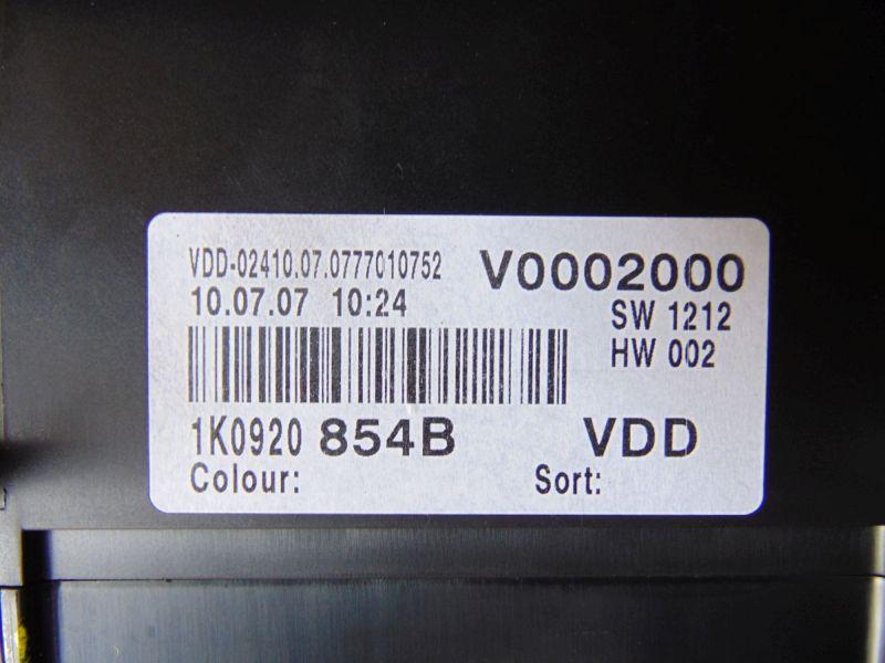 Tachometer KombiinstrumentVW GOLF V (1K1) 1.9 TDI
