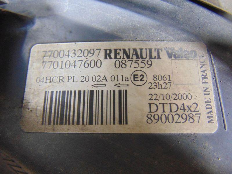 Hauptscheinwerfer rechts FaceliftRENAULT MEGANE SCENIC (JA0/1_) 1.6 16V