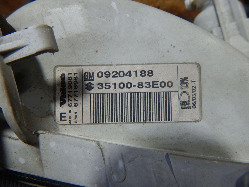 Hauptscheinwerfer rechts mit LWR-MotorOPEL AGILA (A H00) 1.0 12V