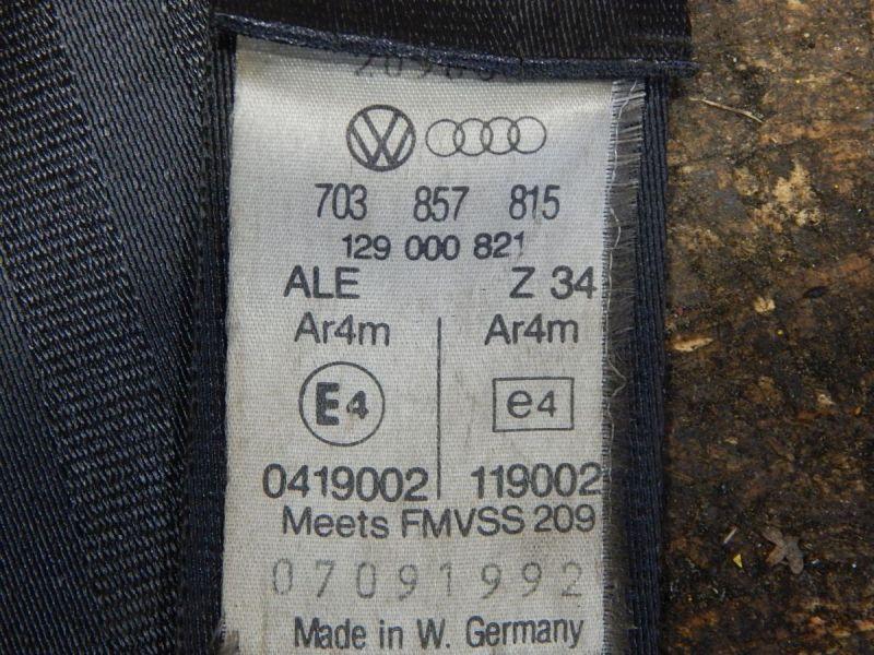 Sicherheitsgurt hinten 3. Reihe AnschnallerVW TRANSPORTER T4 IV BUS (70XB) 2.4D