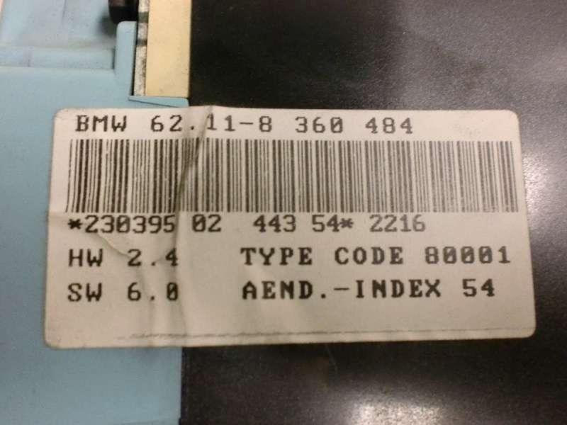 Tachometer BMW 3er Compact (E36)  318ti