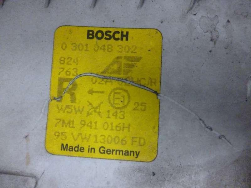 Hauptscheinwerfer rechts VW Sharan (7M)  1.9 TDI