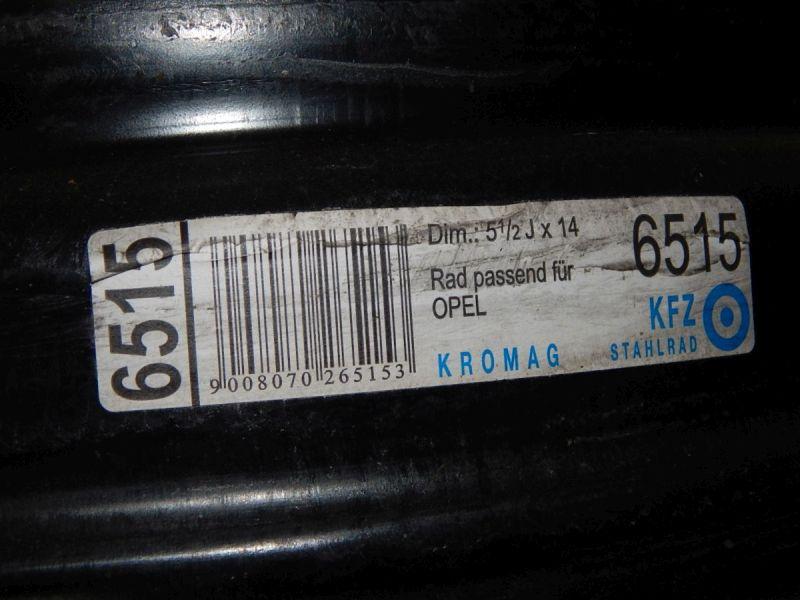 Felge: 5,5JX14 H2 ET39 LK4X1001Satz(je4Stück)
