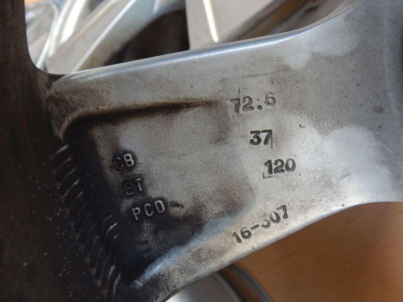 Aluminiumfelge 7.5JX17 H2 ET37 LK5X120X72,61Satz(je4Stück)